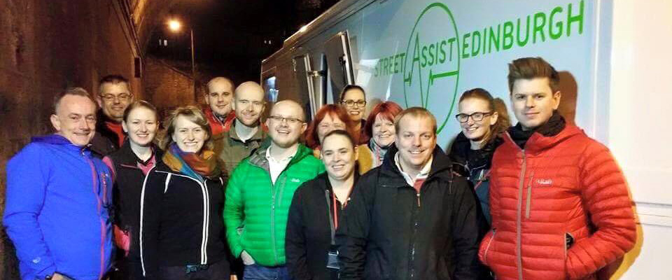 Street Assist Edinburgh volunteers