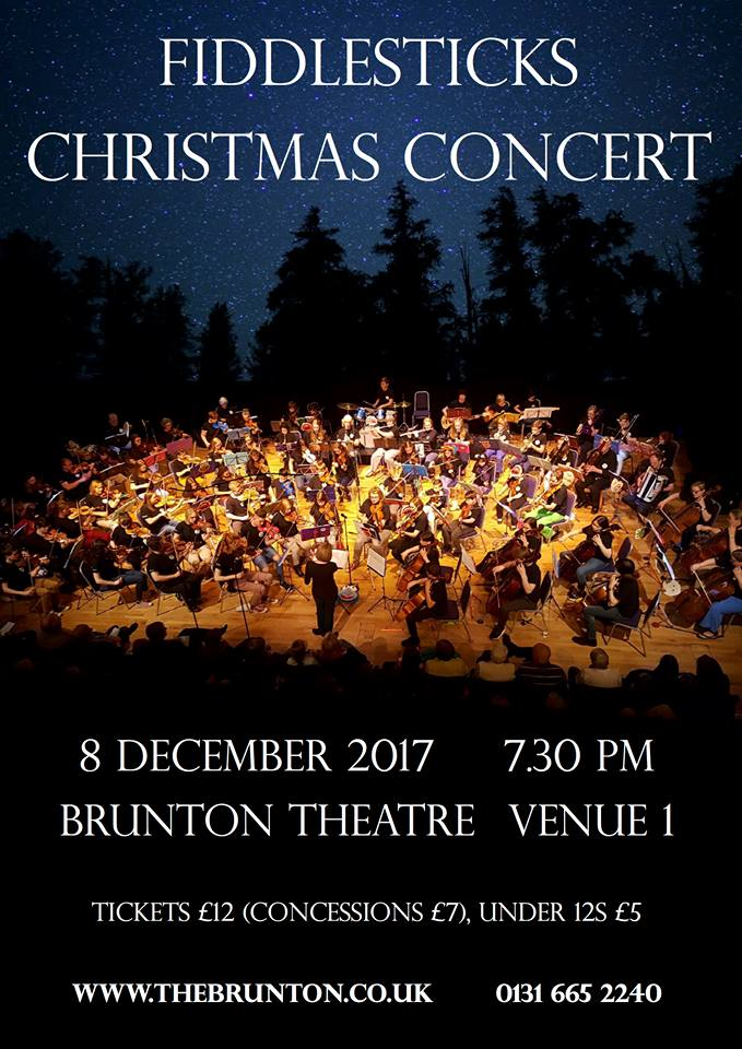 Fiddlesticks 2017 Xmas Concert poster